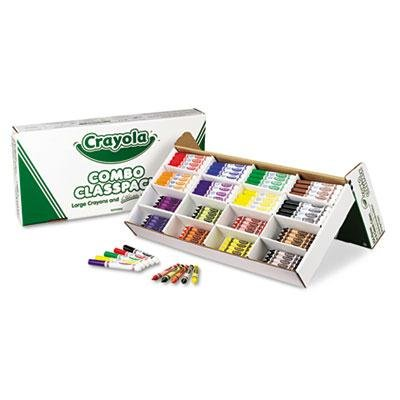 Crayola - Classpack Crayons W/Markers 8 Colors 128 Each Crayons/Markers 256/Box ''Product Category: Writing & Correction Supplies/Crayons & China Markers'' by Original Equipment Manufacture