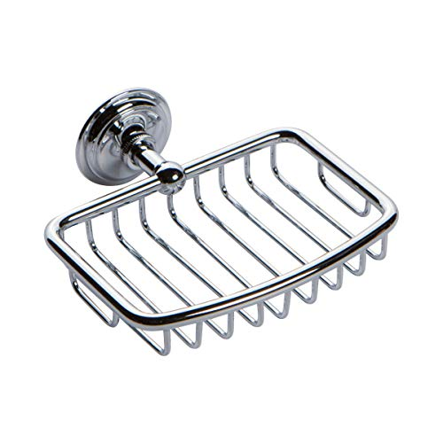 Ginger 26550/PC London Terrace Wall Mounted Shower Soap Basket, Polished Chrome ()