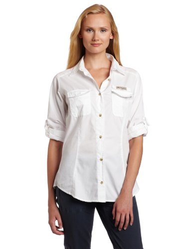 Sleeve Cotton Shirt Long Fishing (Columbia Women's Bonehead Long Sleeve Fishing Shirt (White, X-Large))