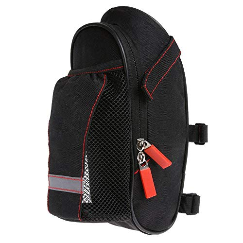 TH-OUTSE Bicycle SaDCMLle Bag with Water Bottle Pocket Waterproof Bike Rear Bags Cycling Rear Seat Tail Bag Bicycle Accessories