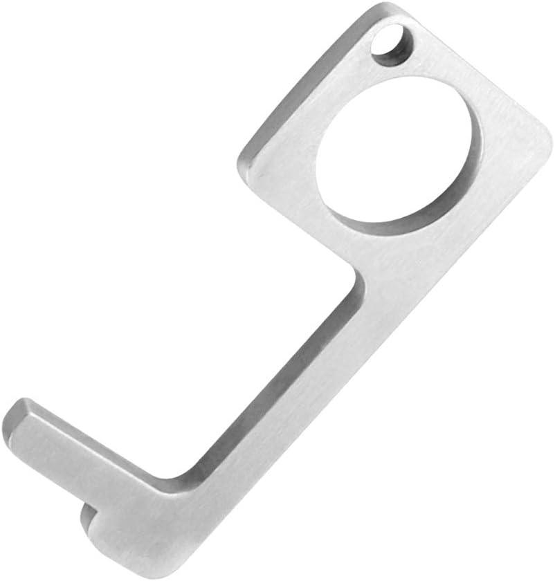 Leftwei Convenient Steel Material Door Opener Accessories Black Useful Practical Toilet Bathroom for Home Hotel Touchless Door Opener