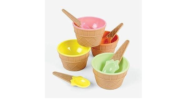 Platos de flotador de helado con cucharas - juego de 4, jardín, césped, Mantenimiento: Amazon.es: Jardín