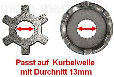 Unbranded KICKSTARTER Welle Feder HEBEL RITZEL ANTRIEB Set f/ür MBK SORRISO Target Fizz 50