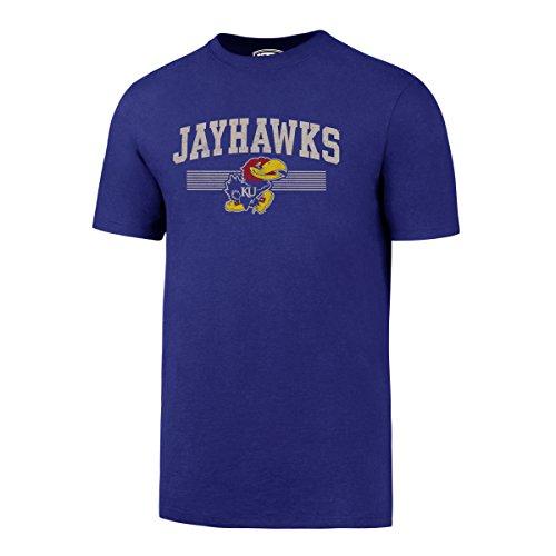NCAA Kansas Jayhawks Men's OTS Rival Distressed Tee, Large, Royal