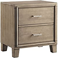 Furniture of America Sutherlin Modern Night Stand, One Size, Gray