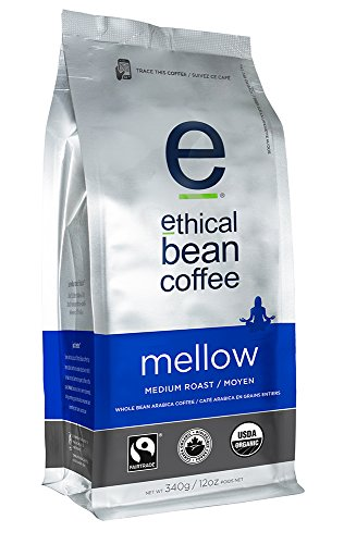 Ethical Bean Coffee Mellow Whole Bean Coffee, Medium Roast, 12 Ounce