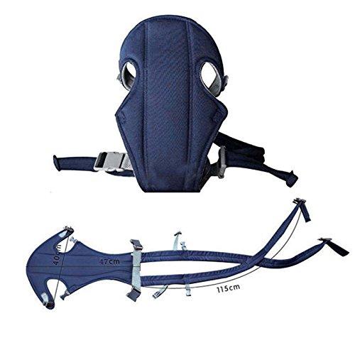 VANKER Bebé del morral del portador práctico delante detrás del asiento del bolso de la honda Llevar -- Azul Azul