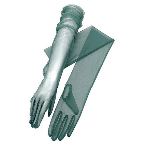 (YCShun Women's Tulle long Wedding Bridal Gloves Long Opera Party Gloves 27