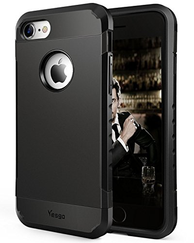 iPhone 7 Case Shockproof Protective Cover Case for iPhone 7 Black