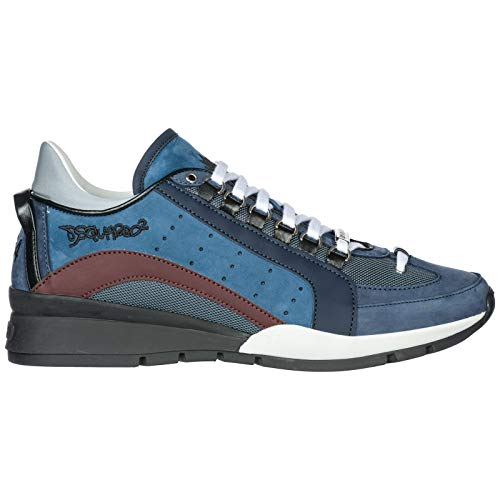 43 DSQUARED2 Sneakers SNM0404 Uomo Blu 13030001 Rosso wpPqYwS