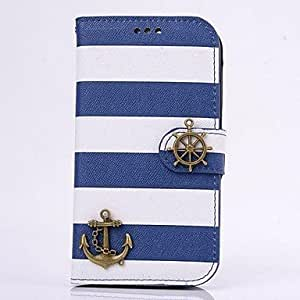GOG- Fashion PU Leather Age of Wind Full Body Case with Stand and Card Slot Money Holder for iPhone 4/4S(Assorted Colors) , Blue