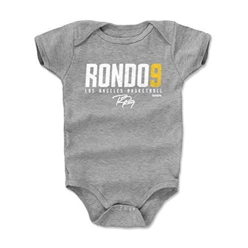 (500 LEVEL Rajon Rondo Los Angeles Basketball Baby Clothes, Onesie, Creeper, Bodysuit (6-12 Months, Heather Gray) - Rajon Rondo Elite Y WHT)