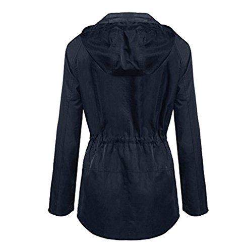 Inverno Blu Per Ovecoat Cappuccio Cheyuan Cappotto Impermeabile Donne Felpa Autunno Giacche Donna Felpe Femminile Le AdwqF6