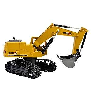 Luckhome Metal Diecast Excavator Construction Truck Toy Tractor, Heavy Metal Excavator Model Free Wheeler Die Cast…