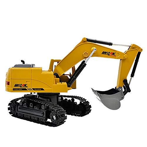 CreazyBee Metal Diecast Excavator Construction Truck Toy Tractor Heavy Metal Excavator Model Free Wheeler Die Cast Construction Toy 1:24 Scale