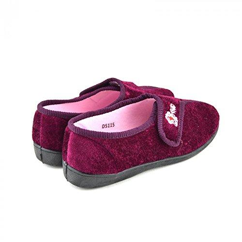 Damen Warm Ziehen Slipers Sehr Komfortabel Lila