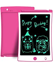 8.5 Inch Kids Drawing Writing Boards, LCD Writing Tablet Electronic Doodle Board, Educational and Learning Toys for Girls Boys Toddler Gifts (Pink)