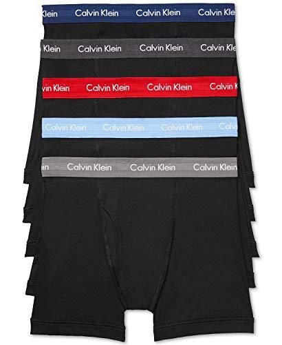 Calvin Klein Men's 5-Pack. Cotton Classic Boxer Briefs (Large)