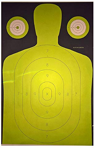 (DOMAGRON Police Standard Silhouette Target - HIgh Visibility Green Target - B-27 HIGR 22.5