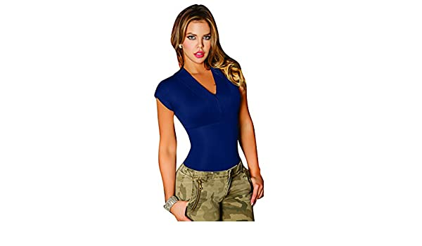 Aranza Blusa Faja Colombiana de Mujer Slimming Body Shaper Blouse Bodysuit Compression Blue at Amazon Womens Clothing store: