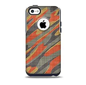 Red, Green and Black Abstract Traditional Camouflage Skin for the iPhone 5c OtterBox Commuter Case (Decal Only)