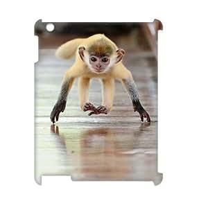 LZHCASE Diy Cover Custom Case Monkey For IPad 2,3,4 [Pattern-1]