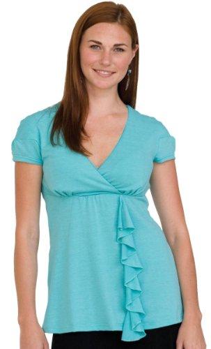 Nixilu by Majamas Nyssa Nursing Top Aqua (Majamas New Nursing Clothes)