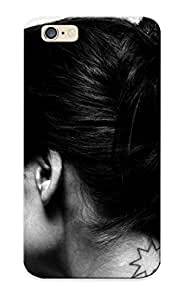 8fe6ccd4950 Tough Iphone 6 Case Cover/ Case For Iphone 6(brunettes Tattoos Women Actress Models Leonor Varela Monochrome Looking Back White ) / New Year's Day's Gift