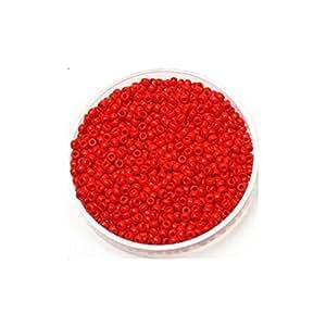 Creafirm - 15 grammes de Perles Miyuki Rocailles 11/0 Rouge Opaque 408