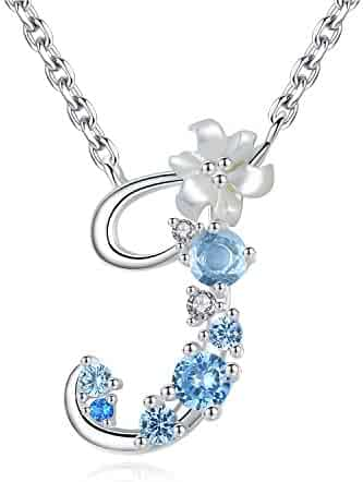 6a8e9c752 VIKI LYNN Sterling Silver Initial Necklace Cubic Zirconia Personalized  Gifts for Girls Women