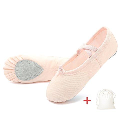 EQUICK Girls'/Women's Ballet Shoes Canvas Ballet Slippers Dance Shoes Classic Split-Sole Gymnastics...