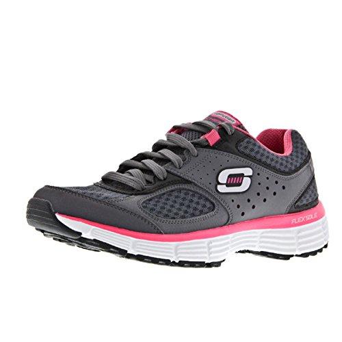 Skechers Agility - Perfect Fit - Zapatillas de deporte para mujer Carbón/rosa