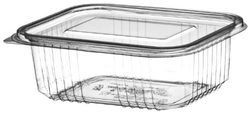 20 x Plastic Hinged Food Salad Containers 500cc also Ideal for Fruit or Cake Display Monarch Glen PLAS500