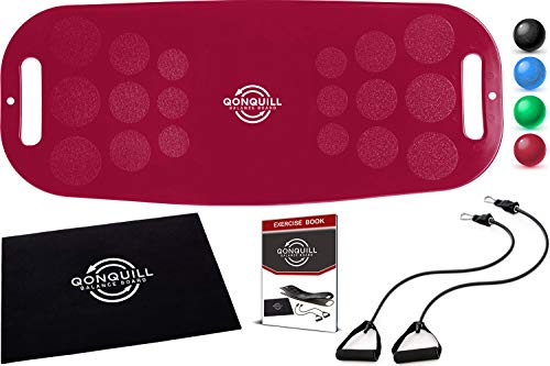 Balance Board - Premium Quality Fit Board + Instructions - Core, Abs & Legs Strengthening - Improve Balance with a Simply Twist Home Exercise