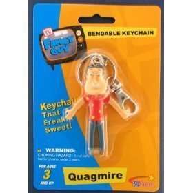 Family Guy Bendable Keychain - Family Guy Quagmire Bendable Keychain by Family Guy, Kidrobot