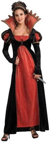 Disfraz de Reina Vampiresa para mujer, rojo y negro, Talla única ...