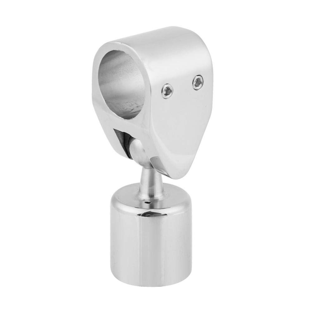 Acouto Marine 316 Stainless Steel Boat Rotatable Top Cap with Sliding Sleeve Slide Boat Hardware Fitting(22mm)