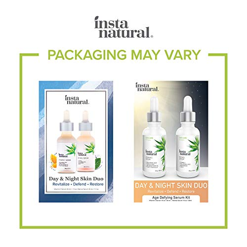 41fRvBqRI5L - Day & Night Duo Bundle - Vitamin C Serum & Retinol Serum - Natural & Organic Anti Aging Formula for Face - Improve Skin Texture & Glow - Reduce Fine Lines Dark Spots Hyperpigmentation - InstaNatural