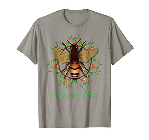 - Save our Bees protect environment ecology theme design art