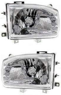 Fits 99-04 Nissan Pathfinder OE Type Headlights Black Clear