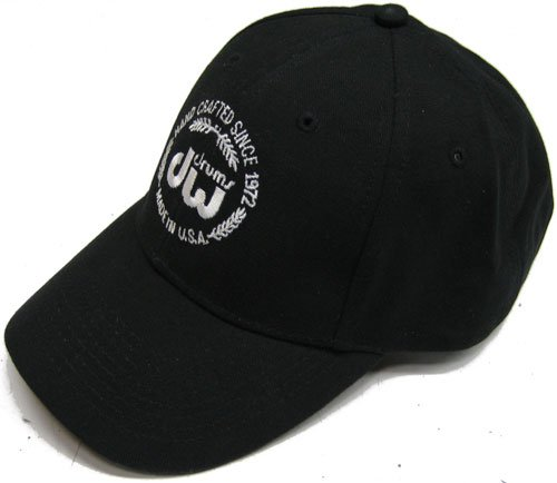 - DW Drum Workshop Unstructured Hat, Black, with Velcro Closure and Embroidered DW Logo