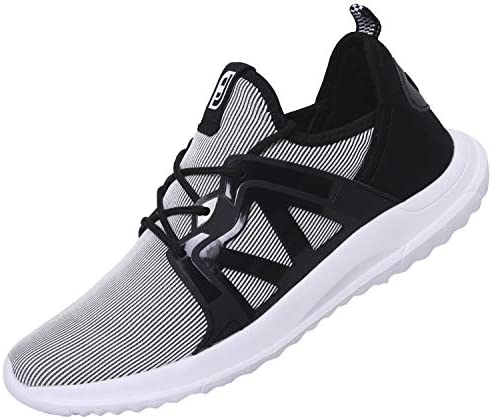 Spesoul Mens Sneakers Fashion Lace Up Lightweight Breathable Athletic Running Walking Shoes