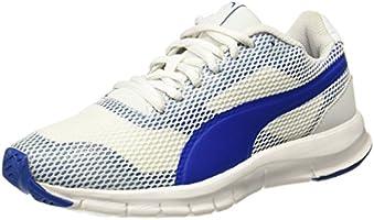 Puma Unisex Flexracer Pro White-Lapis Blue Running Shoes - 4 UK/India (37 EU)
