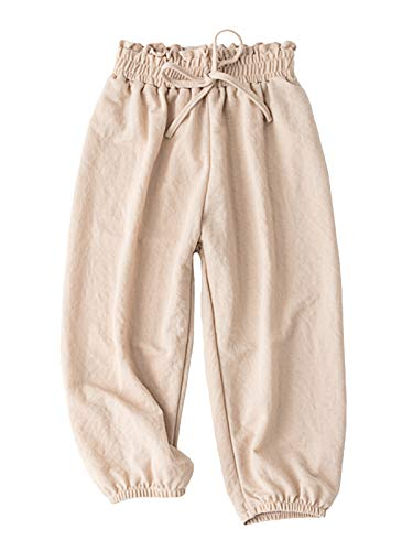 Baby Long Bloomers Soft Cotton Harem Pants for Boys Girls 3T-7T (3T, Beige)