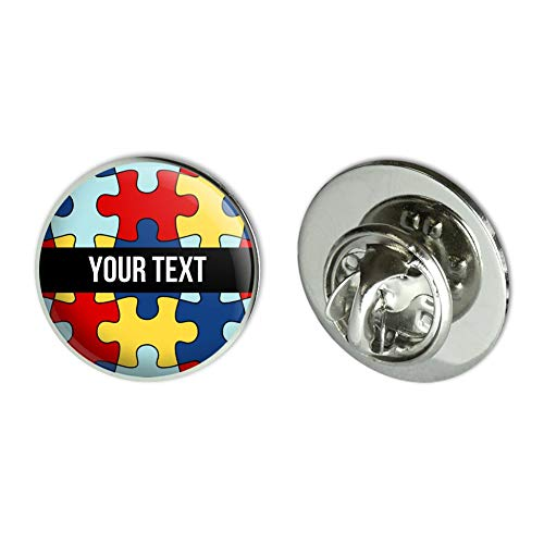 GRAPHICS & MORE Personalized Custom Autism Awareness 1 Line Metal 0 75
