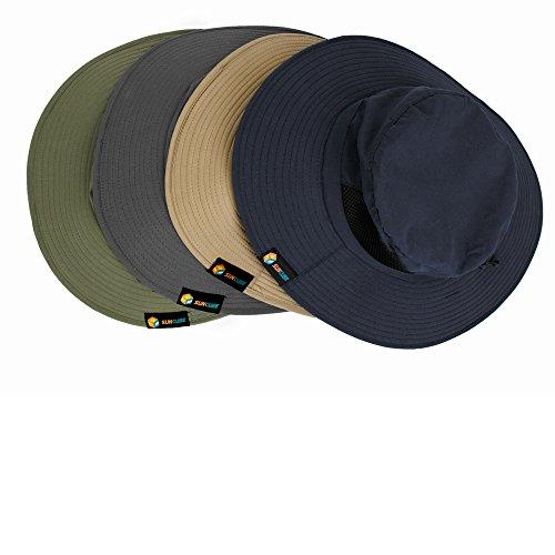 7115e8e24 SUN CUBE Premium Boonie Hat with Wide Brim, Adjustable Chin - Import ...