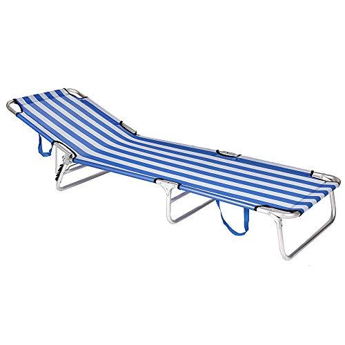 🥇 JUINSA Tumbona Plegable Aluminio 190x58x25cm