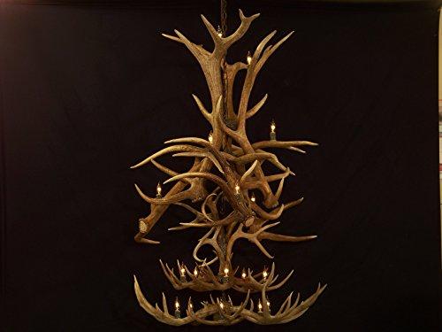 Legend elk mule deer whitetail Antler Grand cascade Chandelier rustic light lamp fixture
