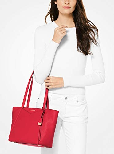 Michael Kors Whitney Small Leather Tote Bag (Bright Red)