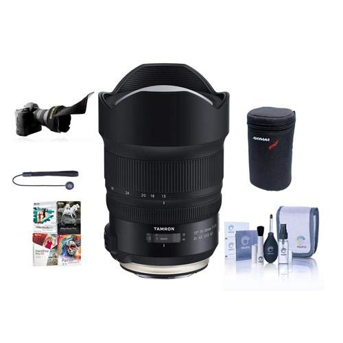 Tamron SP 15-30mm F/2.8 DI VC USD G2 for Nikon DSLR Cameras – Bundle with Flex Lens Shade, Lens Case, Capleash II, Cleaning Kit, Pc Software Package